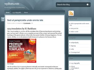 wpBurn Blue wordpress theme