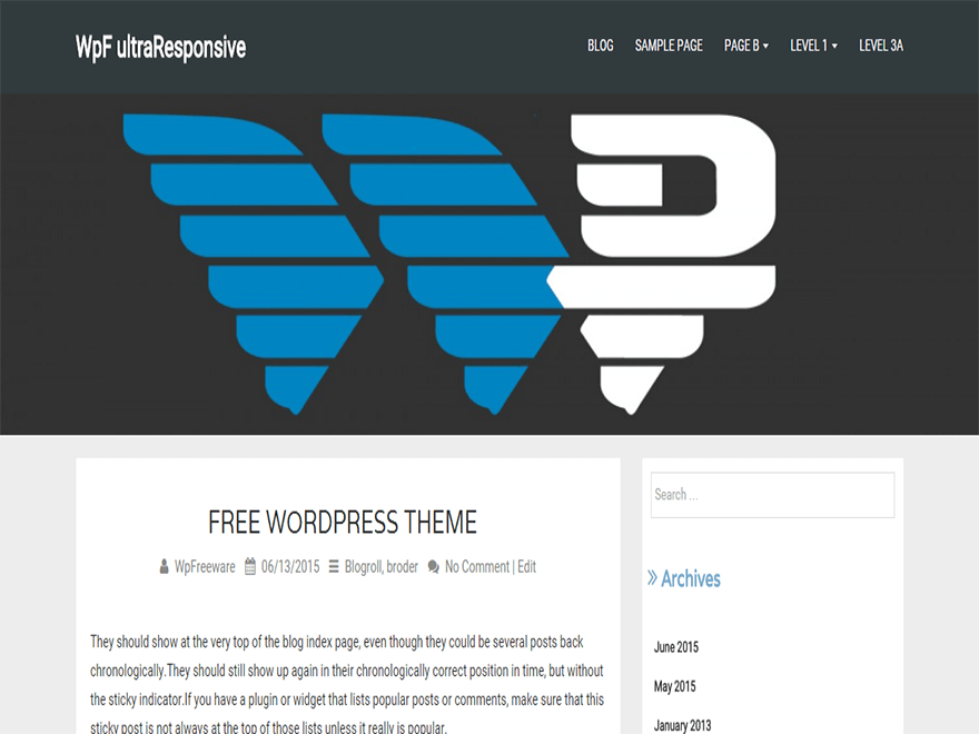 WpF ultraResponsive free wordpress theme