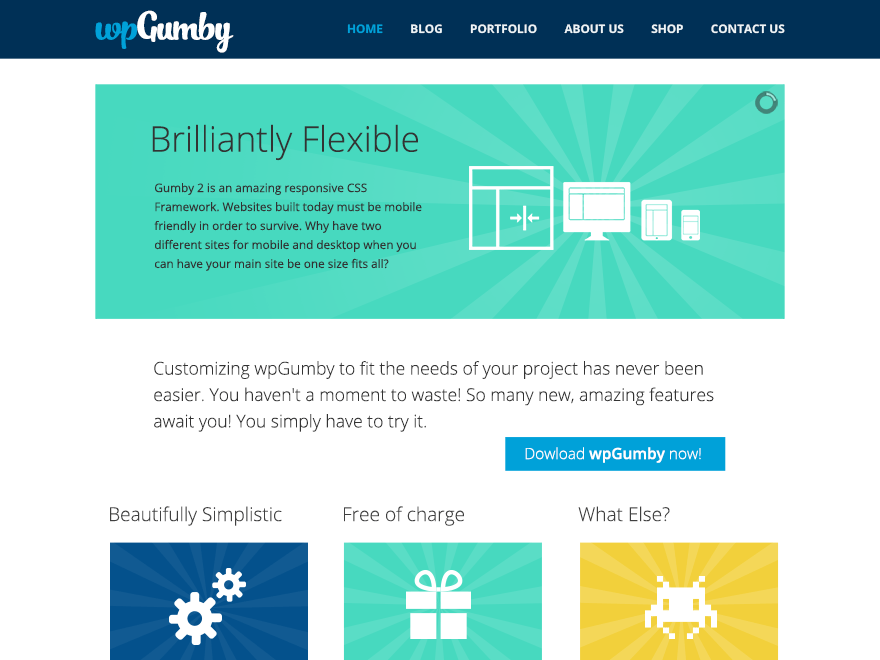 WPGumby theme wordpress gratuit