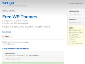 WPLight Theme free wordpress theme