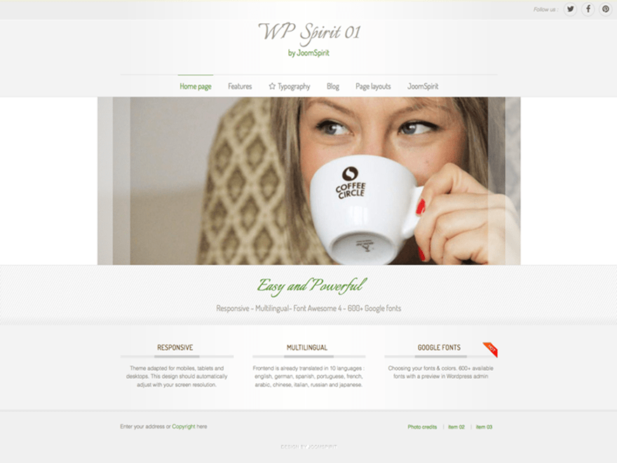 WPspirit-01 free wordpress theme