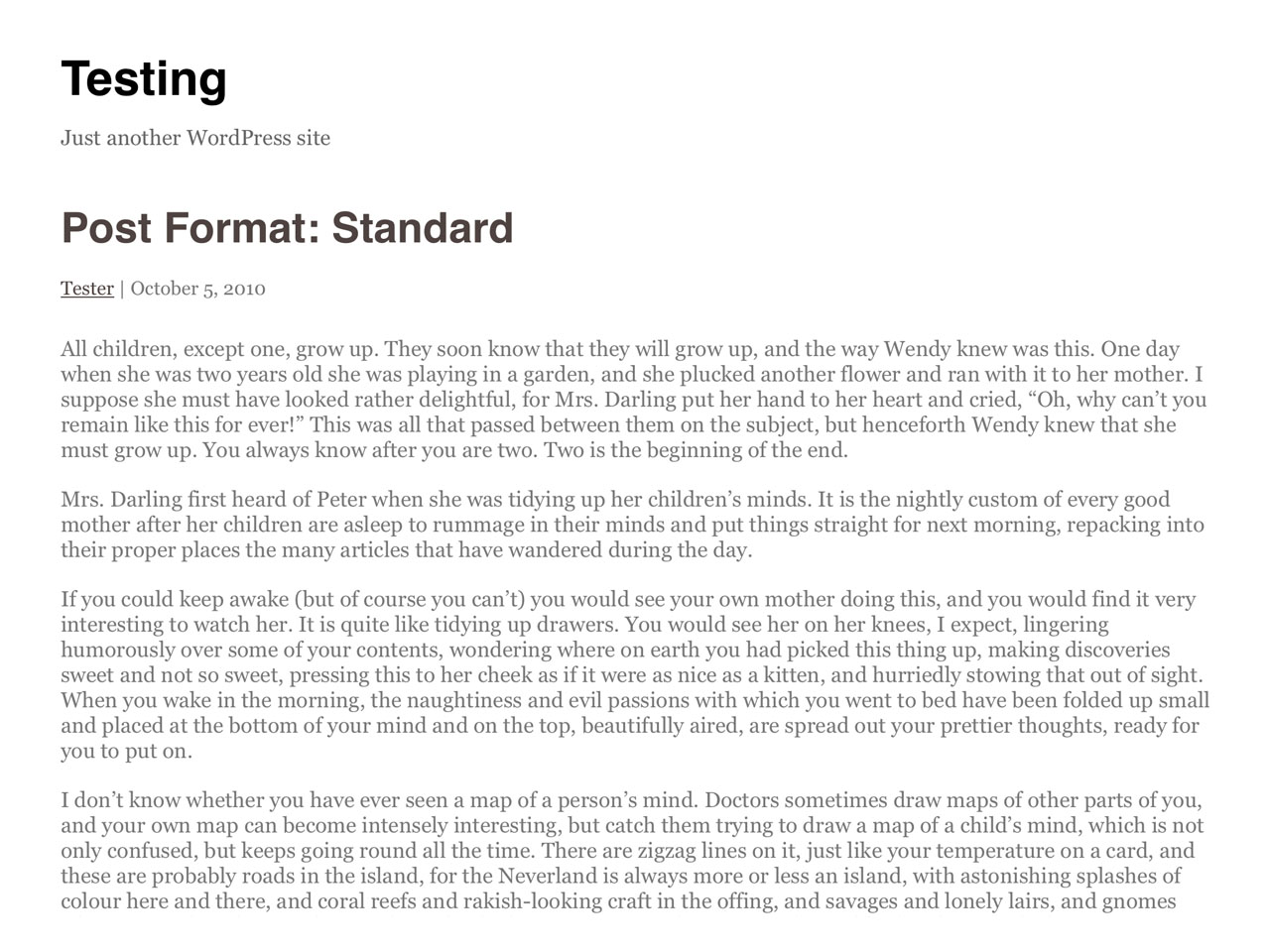 Writer free wordpress theme