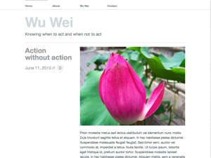 Wu Wei free wordpress theme