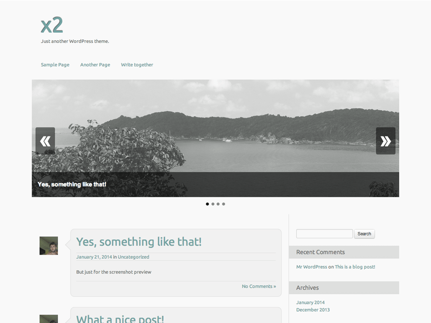 x2 theme wordpress gratuit