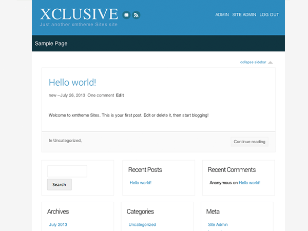 XClusive free wordpress theme