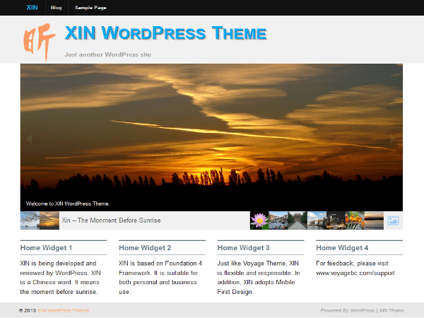 Xin free wordpress theme