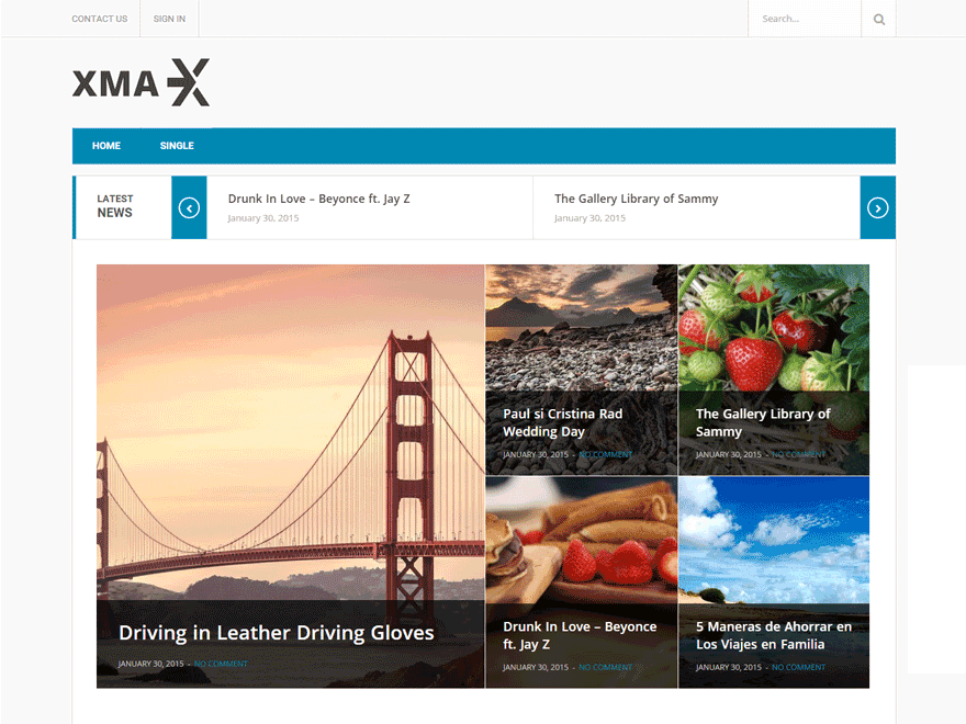Xmax free wordpress theme