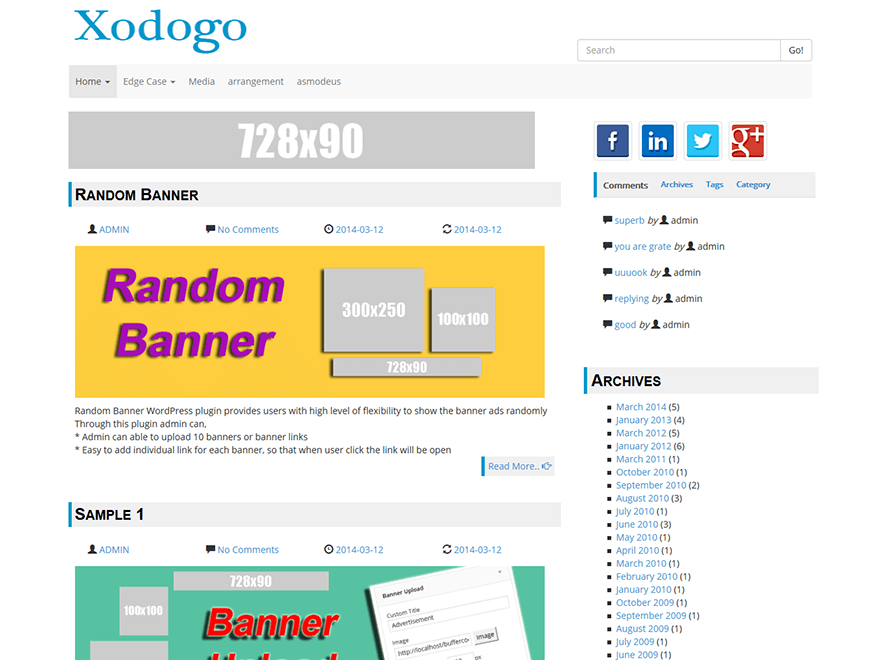 Xodogo free wordpress theme