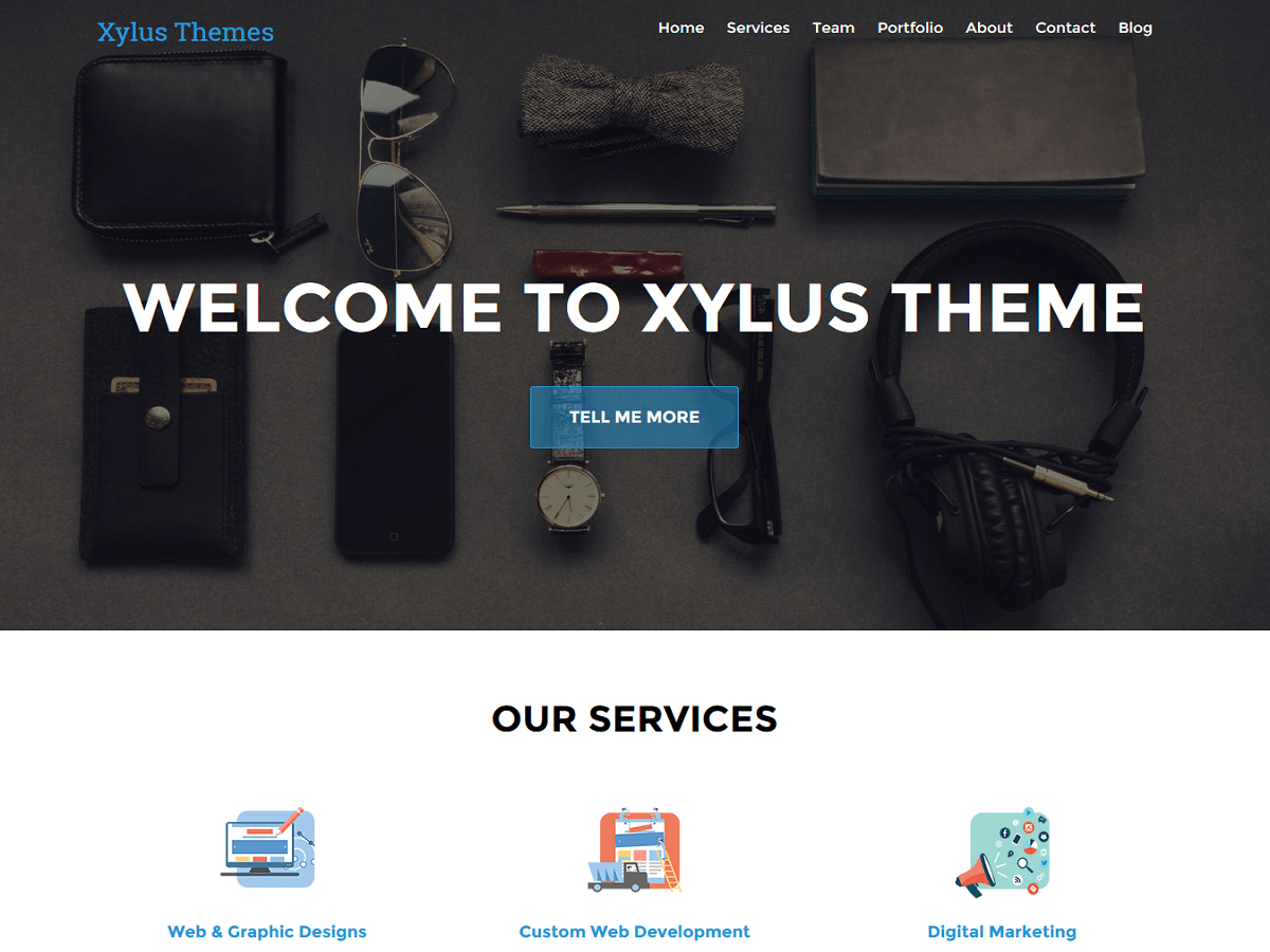 XT Corporate lite free wordpress theme