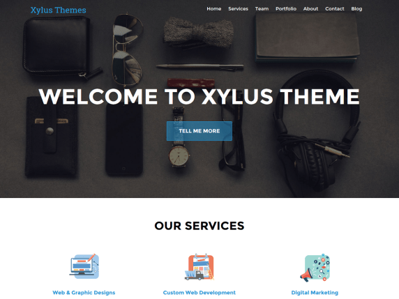 XT Corporate lite wordpress theme