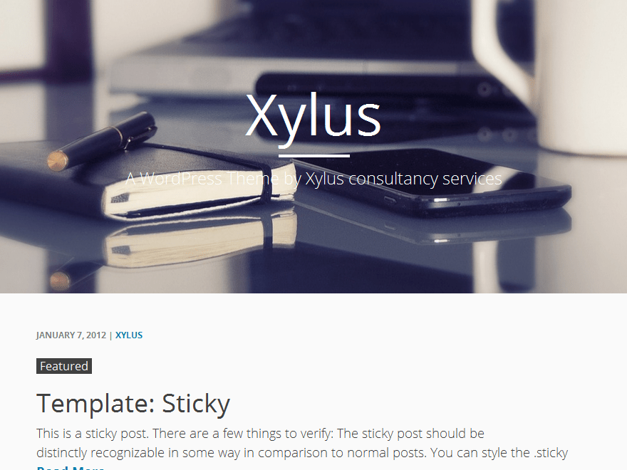 Xylus free wordpress theme