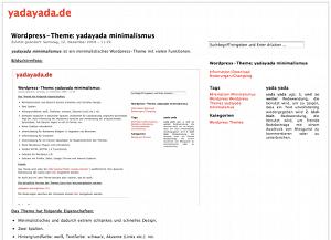 yadayada minimalismus free wordpress theme