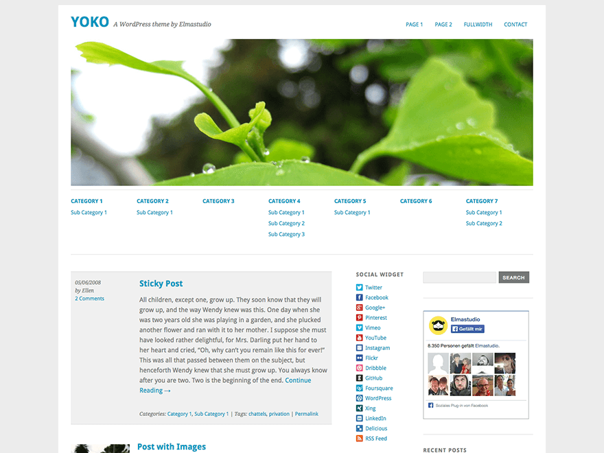 Yoko free wordpress theme