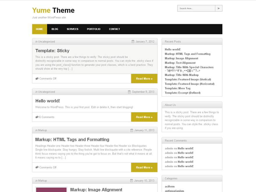 Yume Tan free wordpress theme
