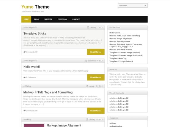 Yume Tan wordpress theme