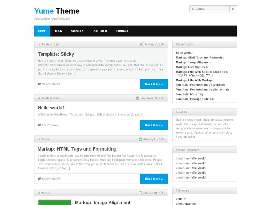 Yume theme wordpress gratuit