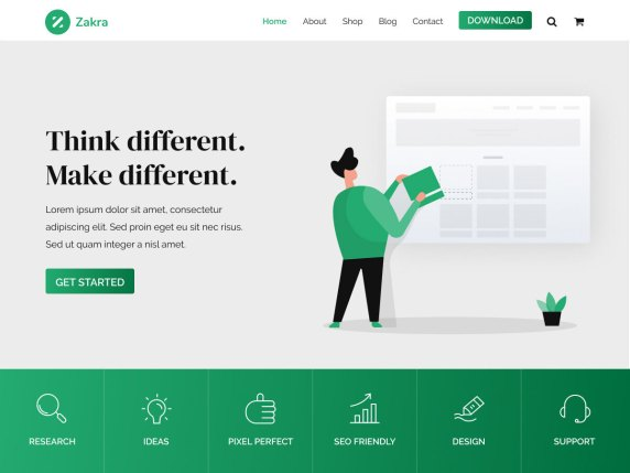 Zakra Blog Business WooCommerce Multipurpose WordPress Theme