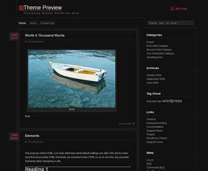 zDark free wordpress theme