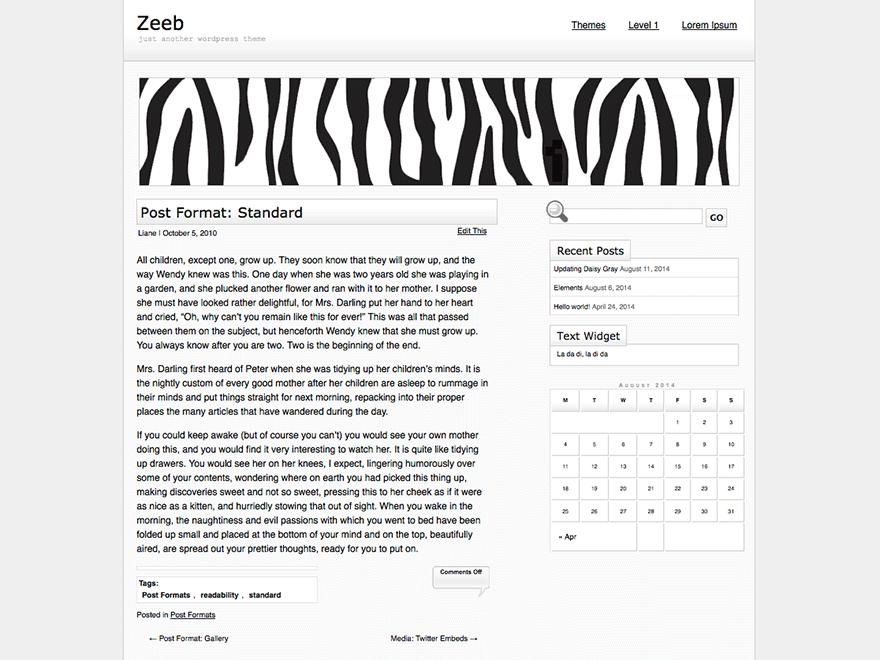 Zeeb theme wordpress gratuit