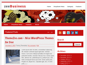 zeeBusiness free wordpress theme