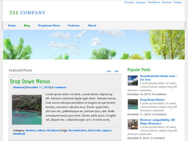 zeeCompany free wordpress theme