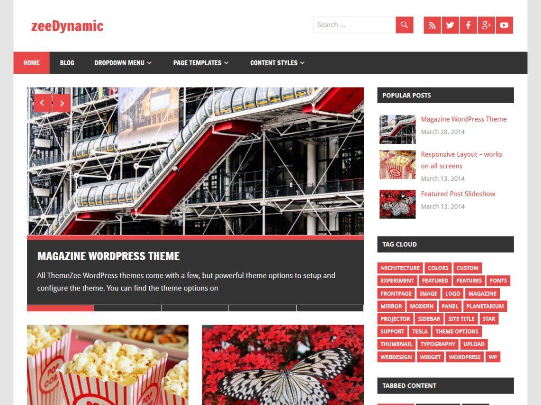 zeeDynamic — Free WordPress Themes