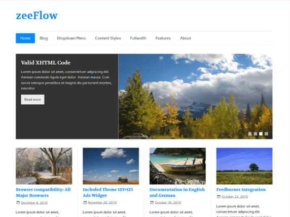 zeeFlow wordpress theme