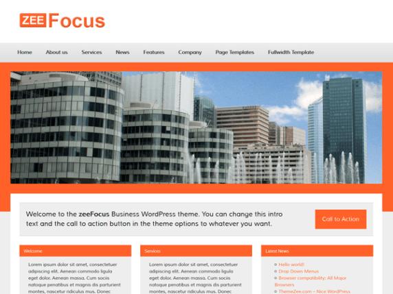 zeeFocus wordpress theme