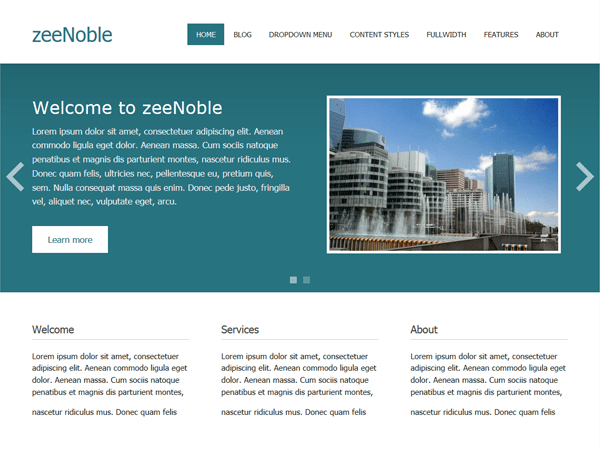 zeeNoble free wordpress theme