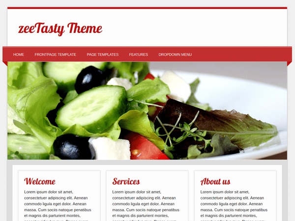 zeeTasty free wordpress theme