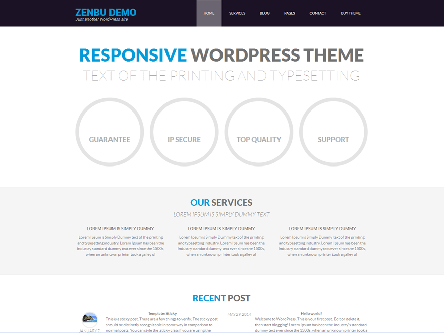 Zenbu free wordpress theme