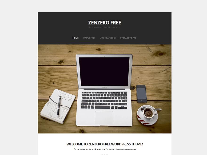 Zenzero free wordpress theme