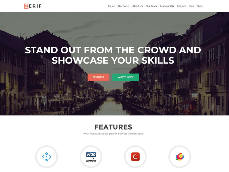 Download Zerif Lite WordPress Theme