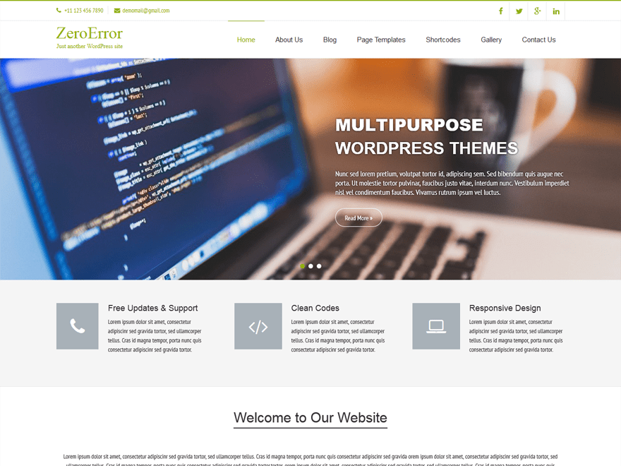 ZeroError Lite free wordpress theme