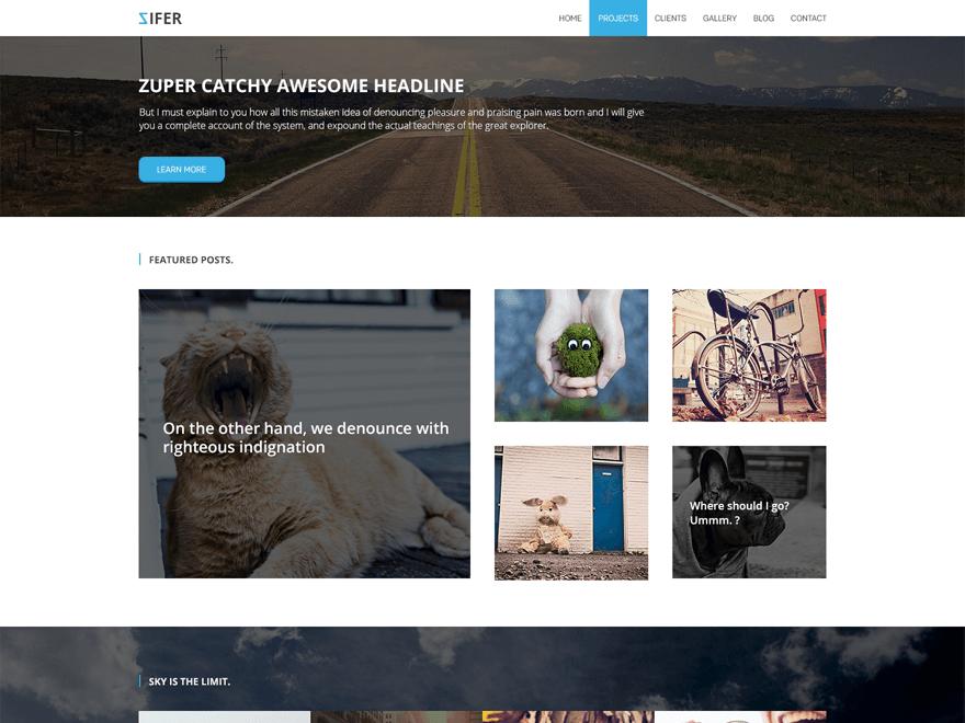 Zifer Child theme wordpress gratuit