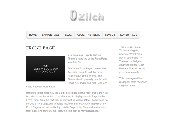 Zilch free wordpress theme