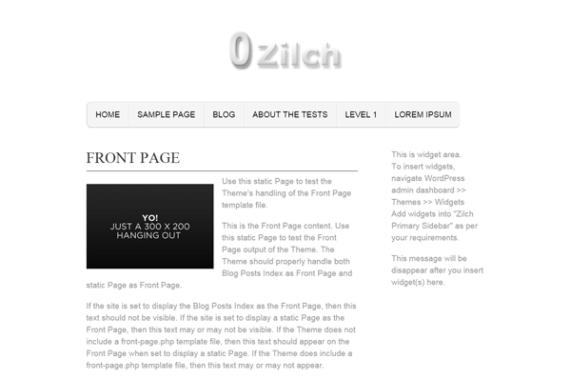 Zilch wordpress theme