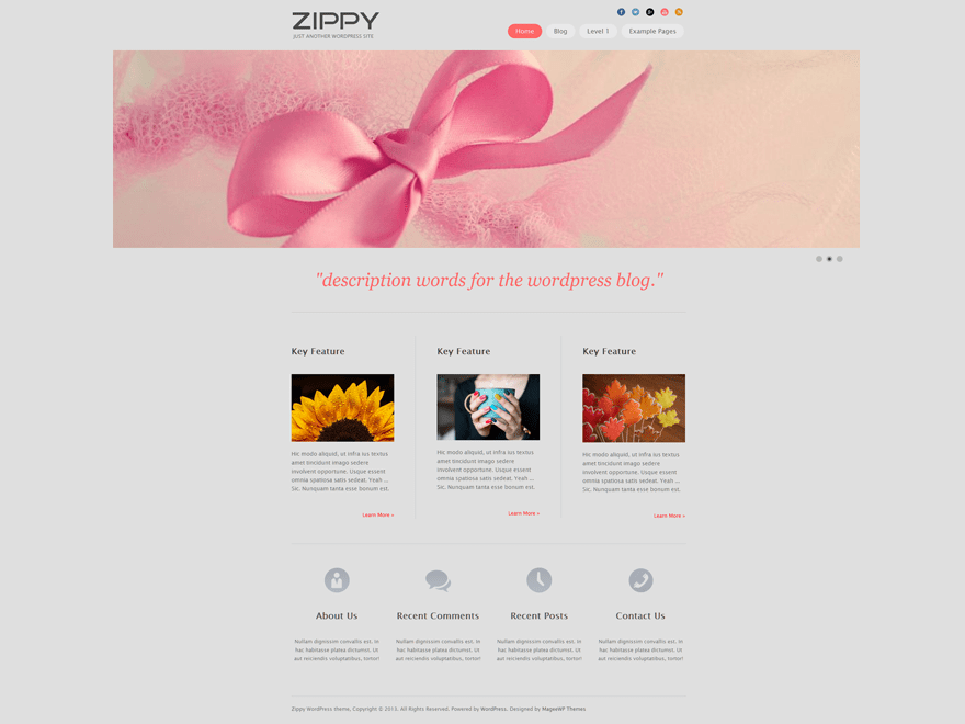 Zippy free wordpress theme