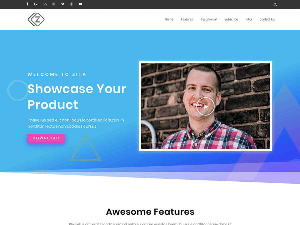 Zita Corporate Portfolio Store WordPress Theme