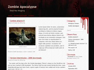 Zombie Apocalypse free wordpress theme