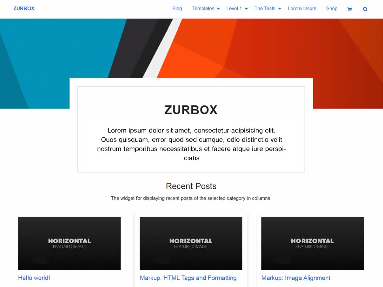 Zurbox Lite - WordPress theme | WordPress org