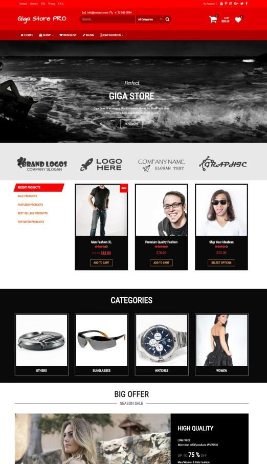 Giga Store PRO – WooCommerce WordPress Theme