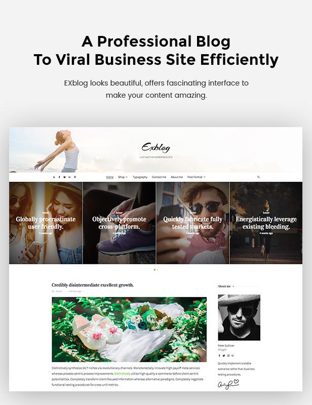 Blog WooCommerce WordPress Theme