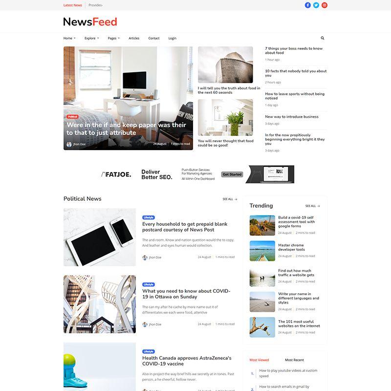 Newsfeed - Multipurpose Ghost Magazine, Blog Theme - 4