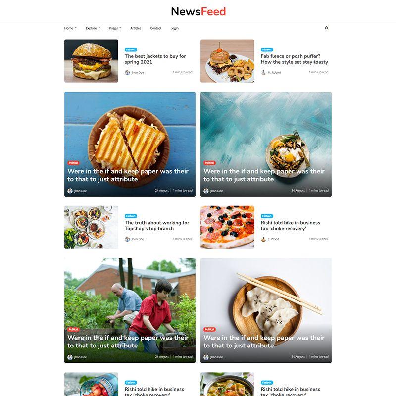 Newsfeed - Multipurpose Ghost Magazine, Blog Theme - 3