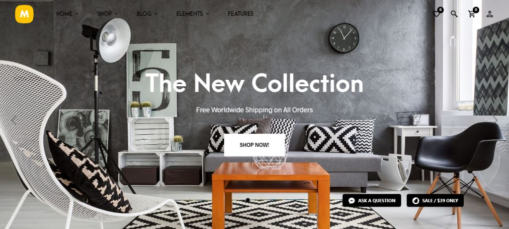 Merchandiser Furniture & Woodwork WordPress Theme