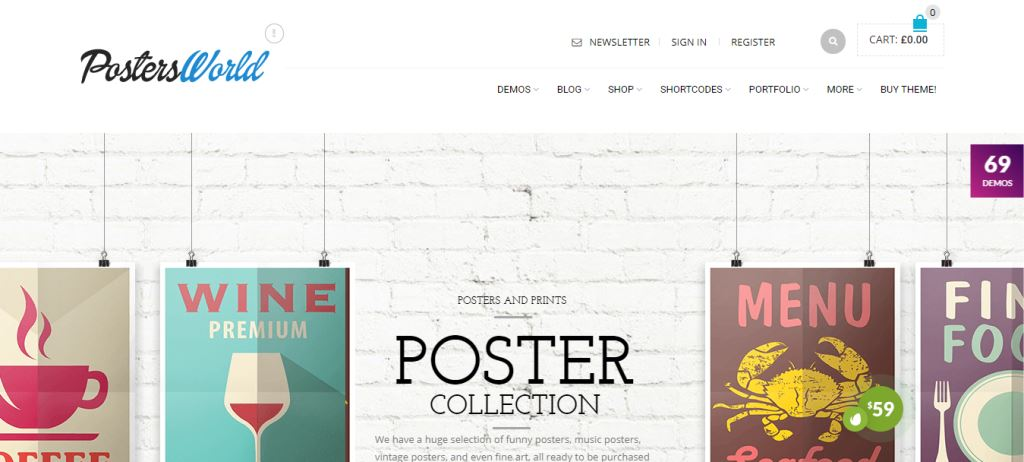 Poster world Furniture & Woodwork WordPress Theme