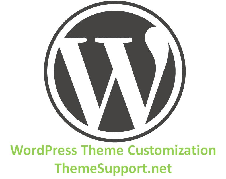 WordPress Theme Customization Logo