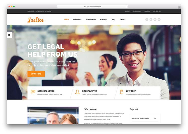 Justice WordPress Law Theme