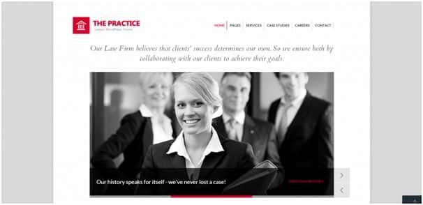 The Practice WordPress Attorney Theme Development & Support